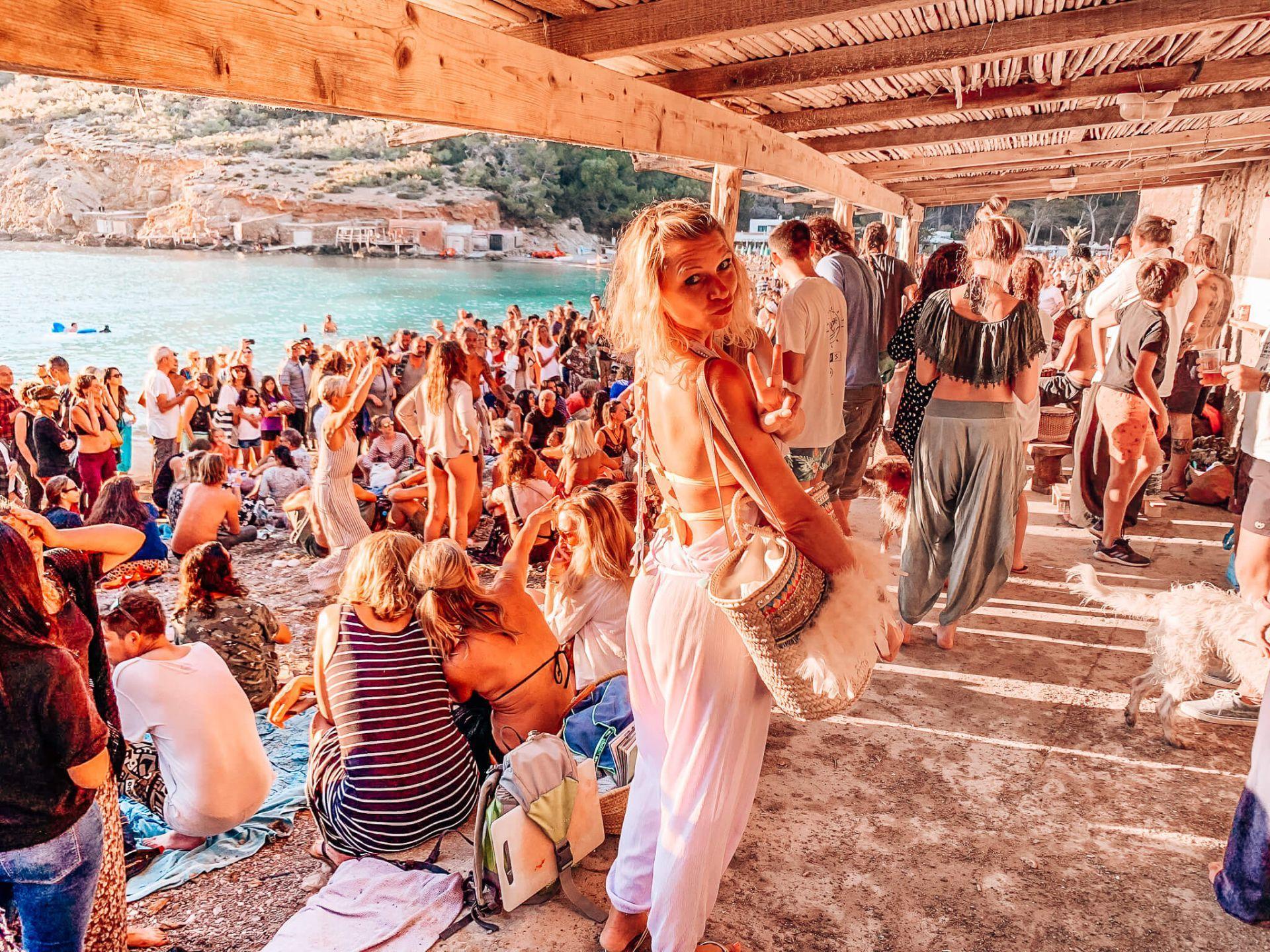 Hippietrommeln Sonnenuntergang Ibiza