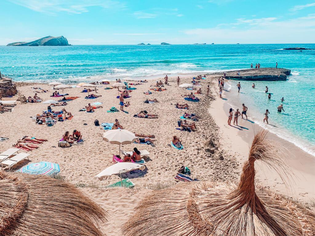 Buchten Ibizas Balearen