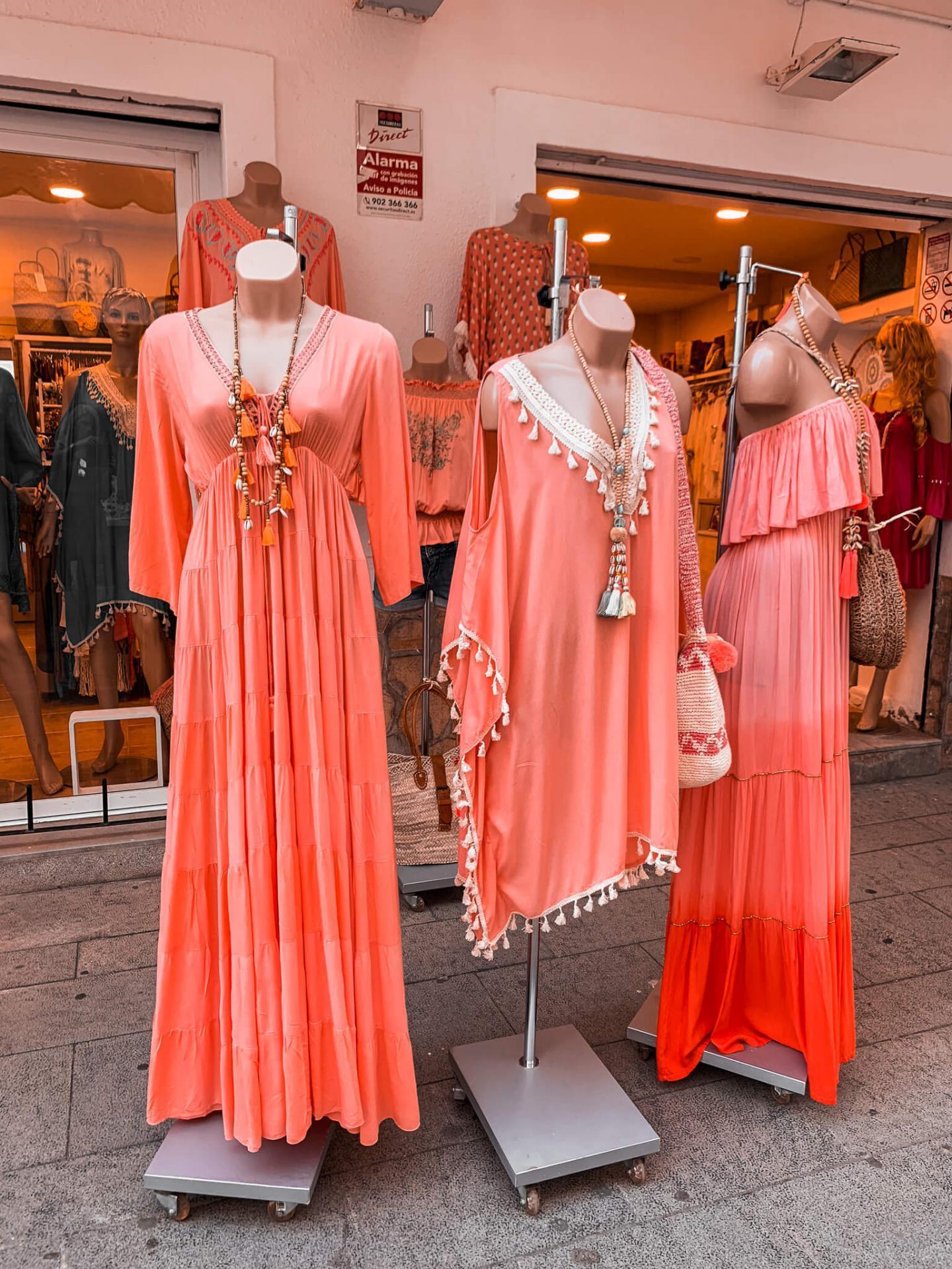 Shopping auf Ibiza Balearen Spanien